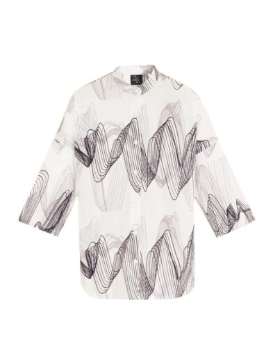 Sound Wave Printed Shirt